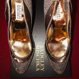 Badgley Mischka glittery shoes size 10